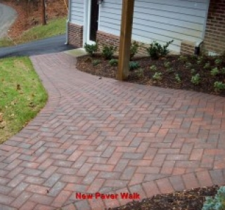 New Paver Walk