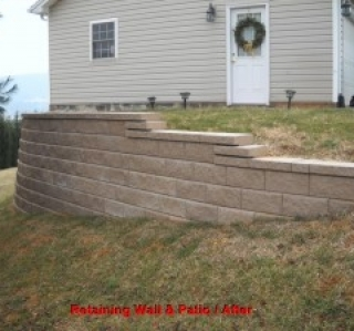 Retaining Wall & Patio / After