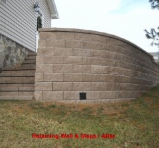 Retaining Wall & Steps / After
