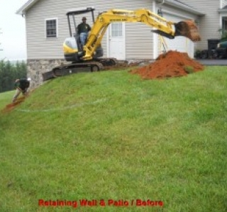 Retaining Wall &  Patio  / Before