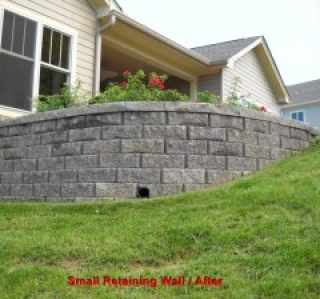 Small Retaining Wall / After