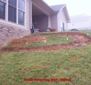 Small Retaining Wall / Before